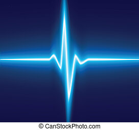 Ekg. - .Blue heart beat. Ekg graph.