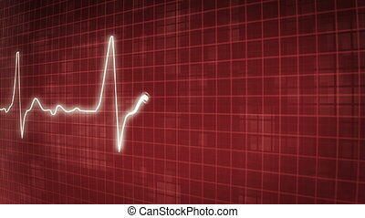 EKG electrocardiogram pulse trace - loopable background EKG...