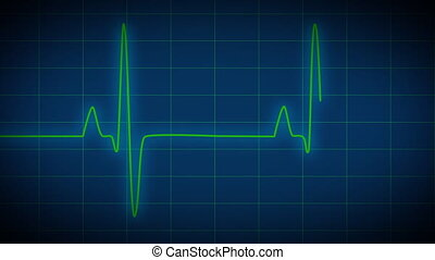 EKG Heart Monitor blue