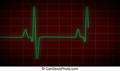 EKG Heart Monitor red