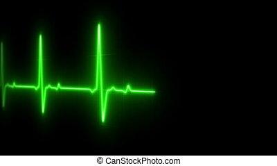 EKG Heart Monitor - EKG Heart Line Footage Loop