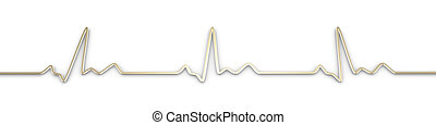 EKG Line - 3D Illustration.