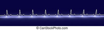 EKG Lines - 3D Illustration.