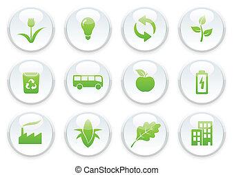 ekologi, ikon, sätta