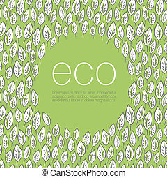 ekologia, eps10, ilustracja, afisz, tło., wektor, ...