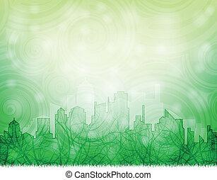 ekologické, město
