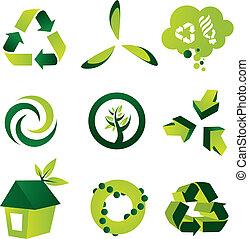 ekologický, základy, design