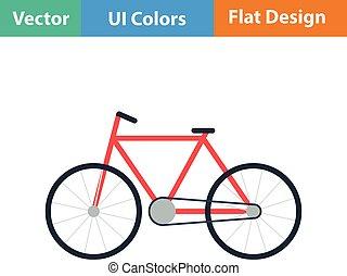 ekologiczny, rower, ikona
