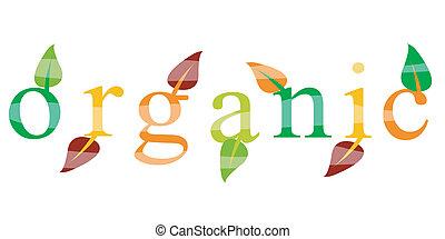 ekologie, organický, ikona