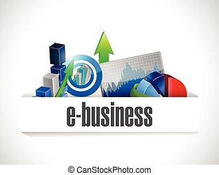 ekonomia, e handlowy, ilustracja, ikony