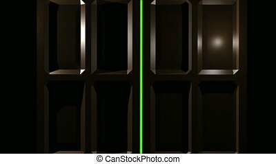 ekran, drzwi, podwójny, zielony