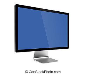 ekran komputerowy, odizolowany