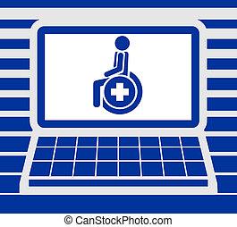 ekran, medyczny, karta