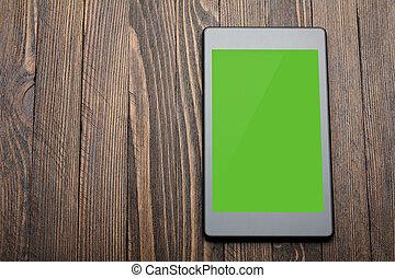 ekran, tabliczka, czysty