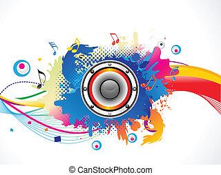 eksplodere, medier, abstrakt, farverig