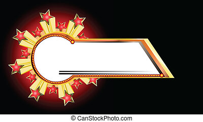 eksplosion, banner, vektor, stjerne