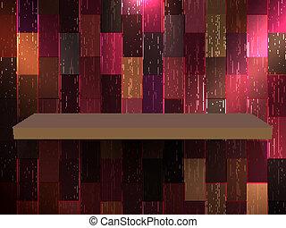 eksponat, 10, kolor, półka, eps, wood., opróżniać