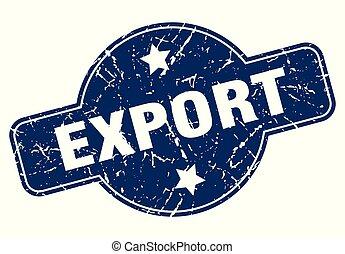 eksport, znak
