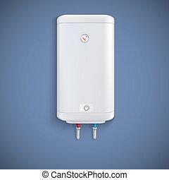 eléctrico, agua, heater.