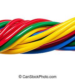 eléctrico, cable