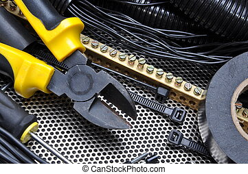 eléctrico, componente, cortadores