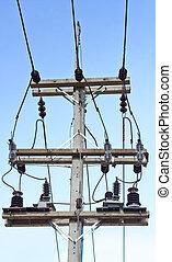 eléctrico, concreto, poles.