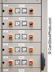eléctrico, cubículo, tabla, panel