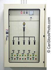 eléctrico, energía, control, cabinet.