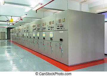 eléctrico, energía, controlador
