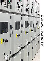 eléctrico, energía, distribución, subestación