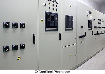 eléctrico, energía, subestación