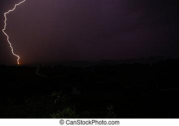 eléctrico, espacio, noche, huelga, oscuridad, paisaje, ...