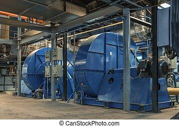 eléctrico, industrial, generador
