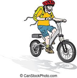 eléctrico, paseo de la bici