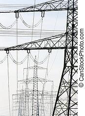 eléctrico, postes