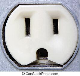 eléctrico, primer plano, salida, extremo