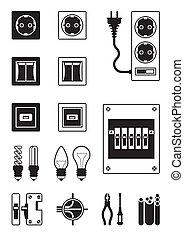 eléctrico, red, dispositivos