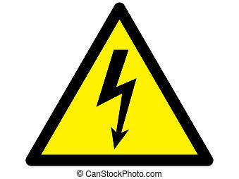 eléctrico, señal, advertencia