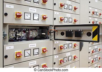 eléctrico, tabla, panel