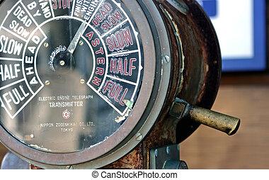 eléctrico, telégrafo motor