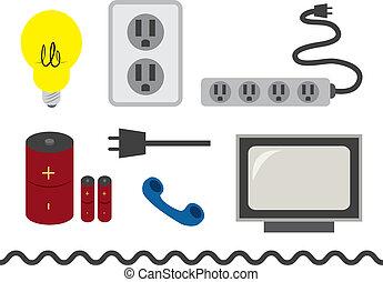 elétrico, acessórios