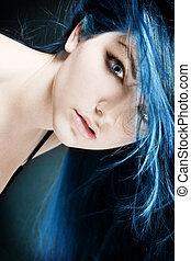 elétrico azul