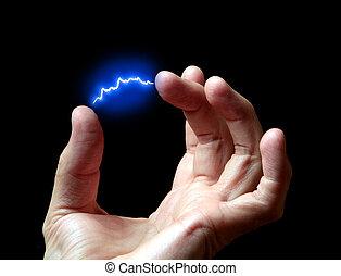 elétrico, descarga