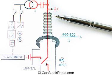 elétrico, esquema