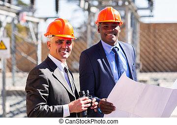 elétrico, gerentes
