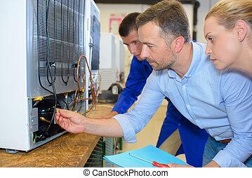 Elétrico, montagem, dispositivo