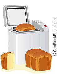 elétrico, pão, fabricante, e, pão