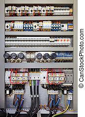 elétrico, painel controle