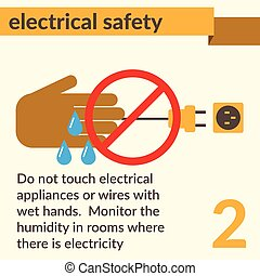 elétrico, segurança, e, saúde, ícones, e, sinais, jogo
