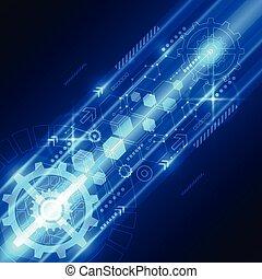 elétrico, telecom, abstratos, engenharia, vetorial, fundo, futuro, tecnologia